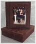 A3 Photo Album Full Suede Leather With CD Box