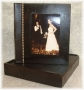 A3 Photo Album Rustic Dark Brown Wood