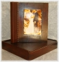 A3 Photo Album Rustic Light Brown Wood