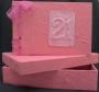 A5 21st Guest Book Pink