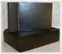 A5 Guest Book Rustic Dark Brown Wood