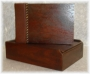 A5 Guest Book Rustic Light Brown Wood