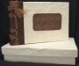 A5 Guest Book Natural With Leather and Ribbon Spine
