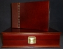 A5 Guest Book Veneered Finish Light Brown Wood