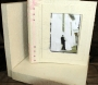 A3 Photo Album White With Silver Tinsel Flecks