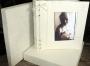 A5A Photo Album White With Silver Tinsel Flecks