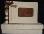 A5 Guest Book Natural With Brown Ribbon