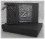 A5 21st Guest Book Black